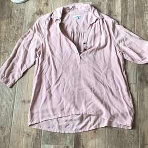 Tops - Button Down 3-4 Sleeve Blouse